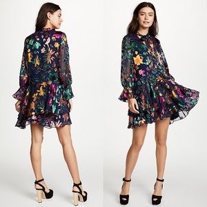 Alice Olivia Moore Dress in Prisma Floral Sapphire